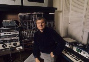 Mr. Kingsley at his home studio in an undated photo. An early convert to the Moog synthesizer, he wrote a concerto for four Moogs as well as musicals, operas, oratorios, cantatas, movie soundtracks and a rock version of Jewish Sabbath services. Credit: via Kingsley family